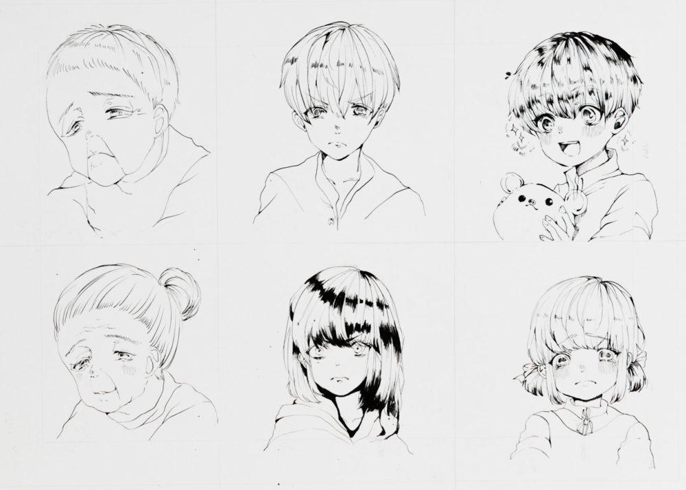 2018前期-マンガ基礎(表情と年齢の描き分け)3