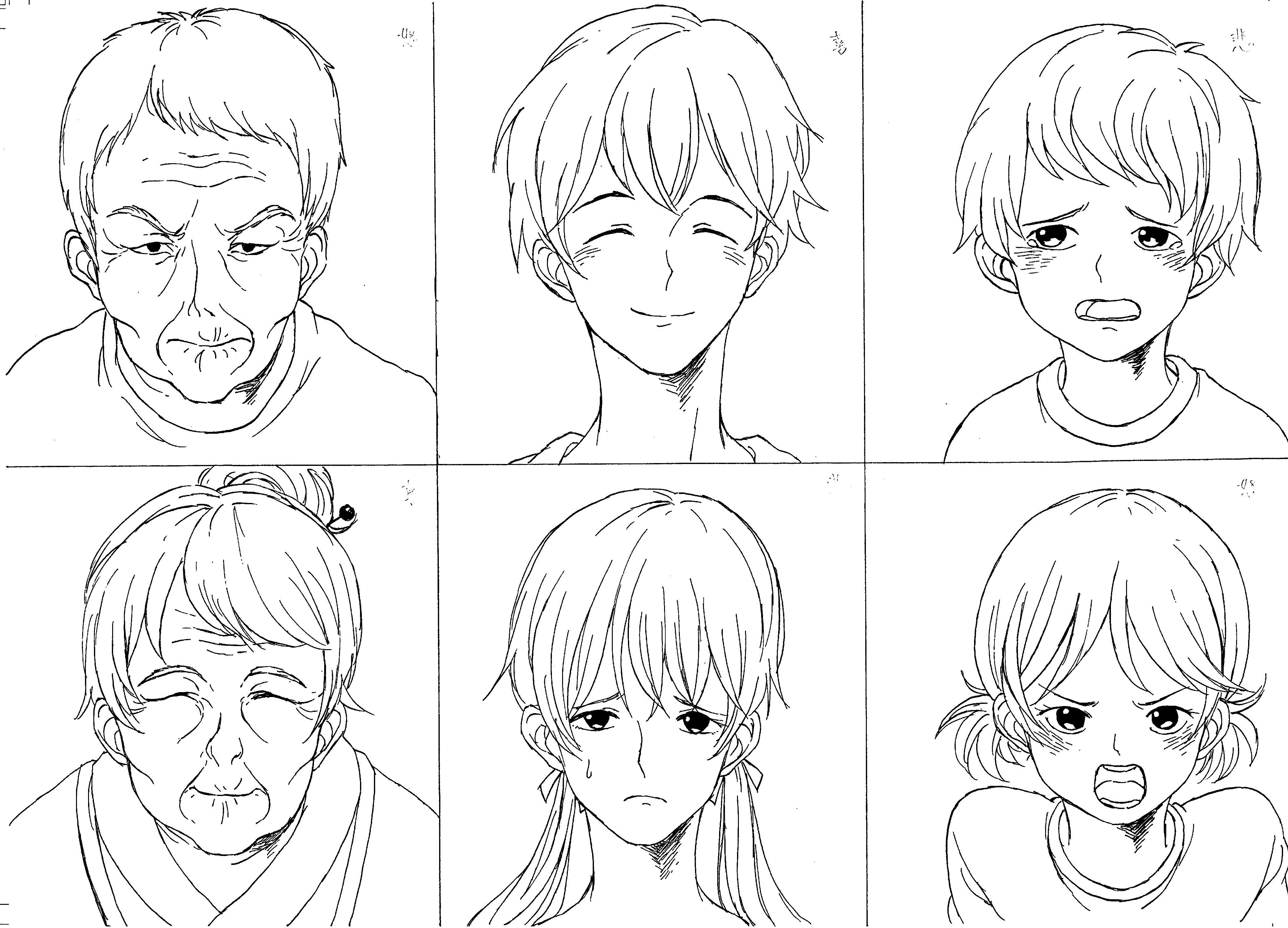 2018前期-マンガ基礎(表情と年齢の描き分け)16
