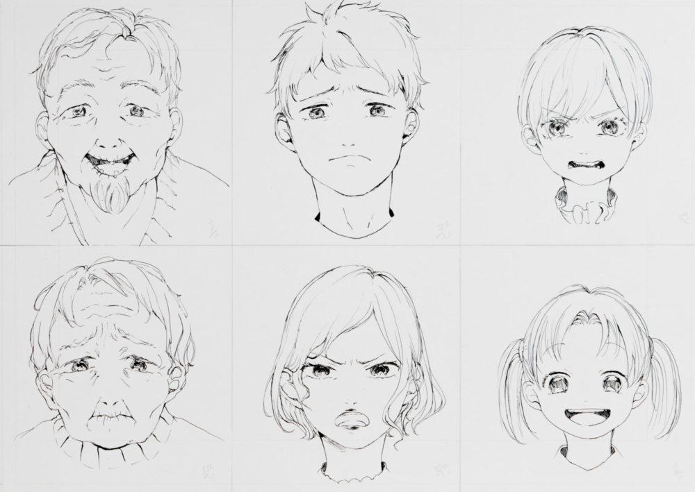 2018前期-マンガ基礎(表情と年齢の描き分け)2